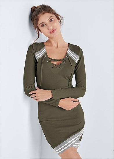 sparkle stripe lounge dress