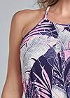 Alternate View Palm Print Romper