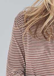 Detail front view Long Sleeve Sleep Shirt