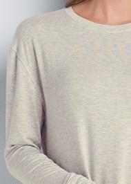 Detail front view Long Sleeve Sleep Shirt