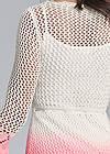 Detail back view Ombre Crochet Mini Dress