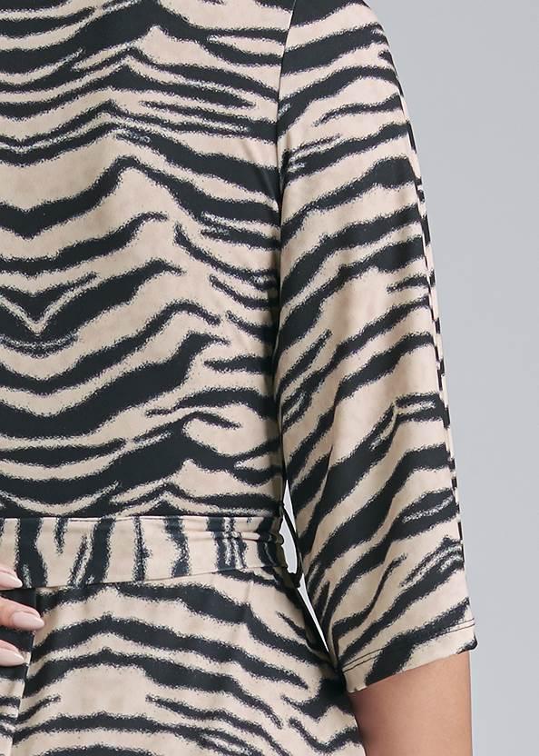 Detail back view Animal Print Maxi Dress