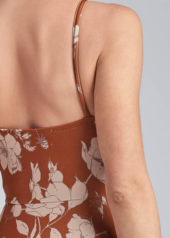 Detail back view Floral Print Midi Dress