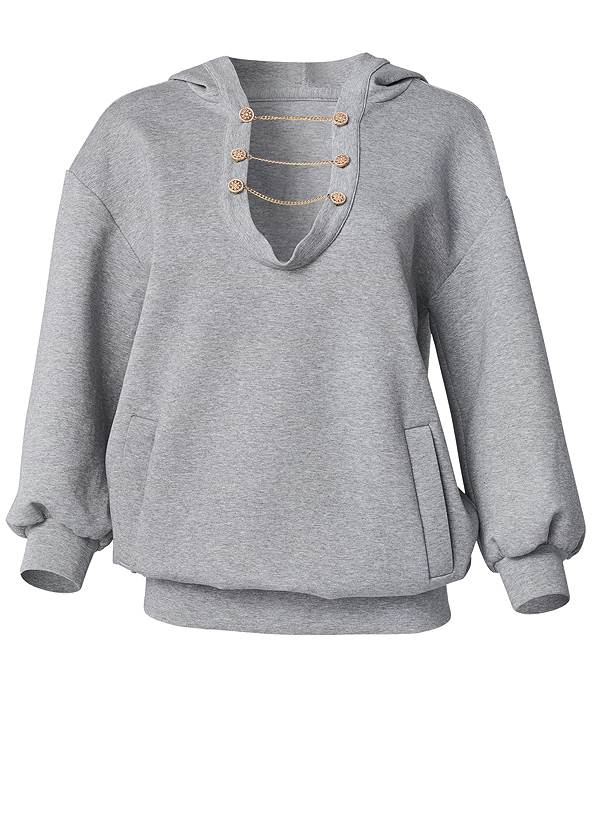 Ghost with background  view Chain Neck Sweatshirt