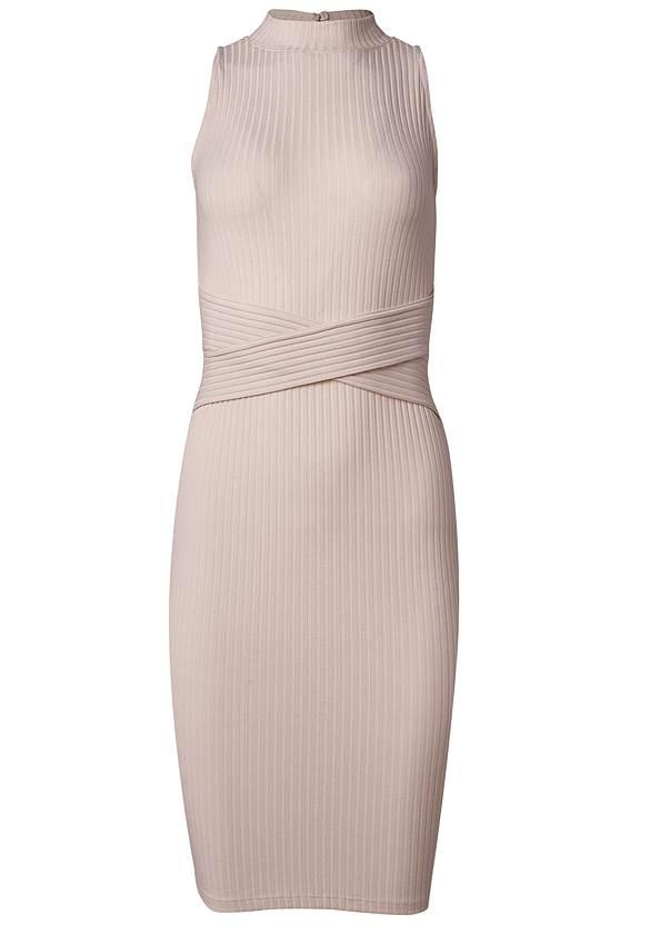 Alternate View Casual Ribbed Midi Dress