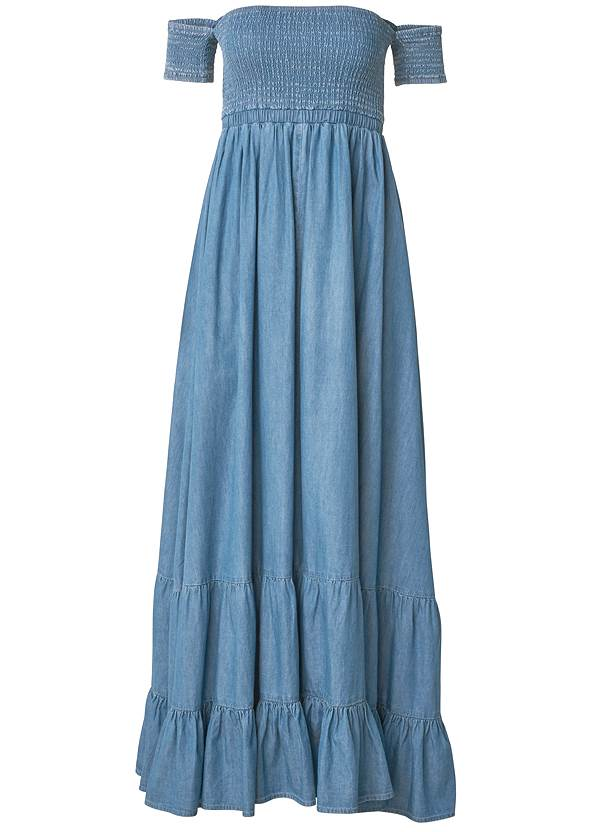 Ghost with background  view Off-The-Shoulder Maxi Dress