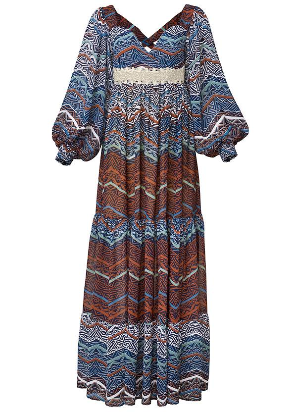 Ghost with background  view Printed Maxi Dress