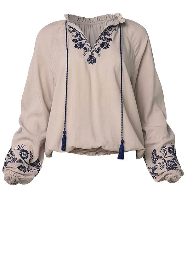 Alternate View Embroidered Boho Top