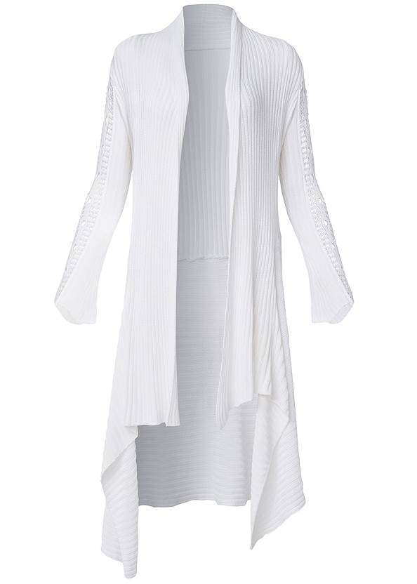 Ghost with background  view Crochet Sleeve Duster