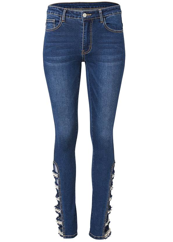 Ghost with background  view Lattice Detail Skinny Jeans
