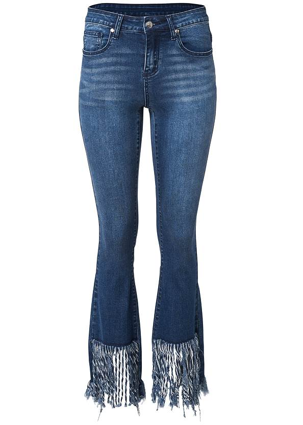 Ghost with background  view Frayed Hem Jeans