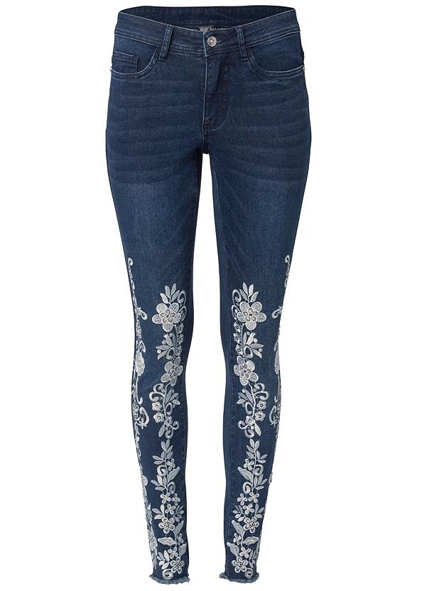 Ghost with background  view Floral Embroidered Jeans