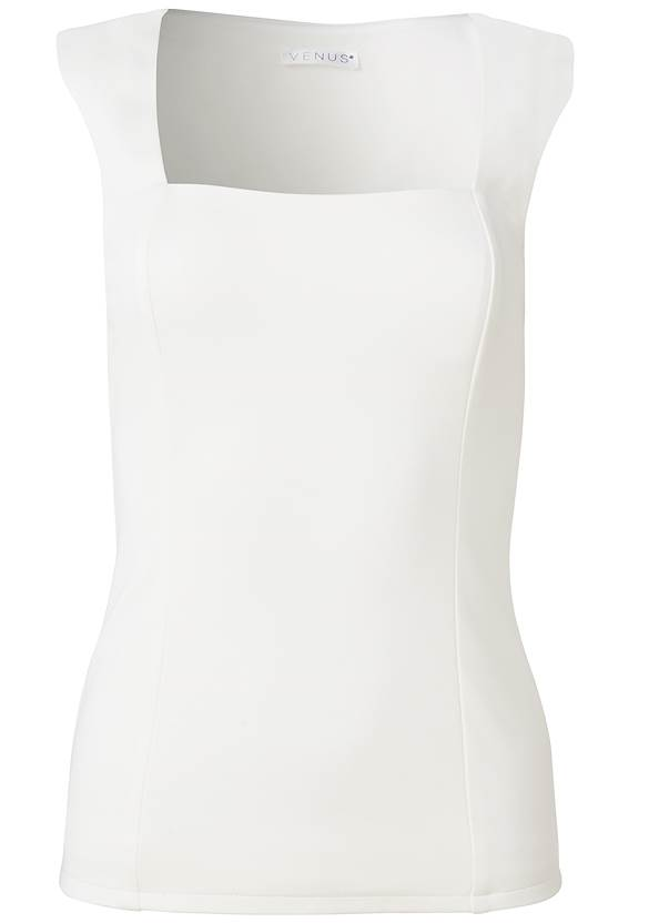 Ghost with background  view Square Neck Sleeveless Top