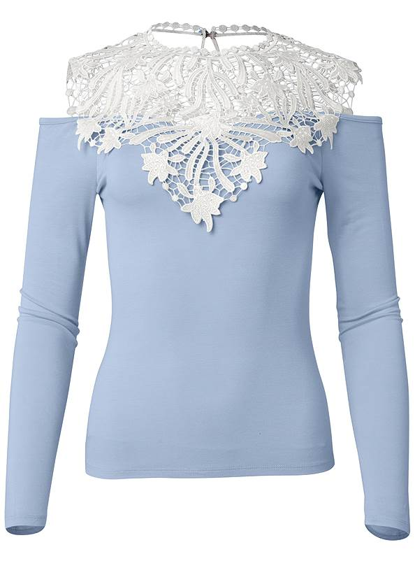 Ghost with background  view Lace Detail Top