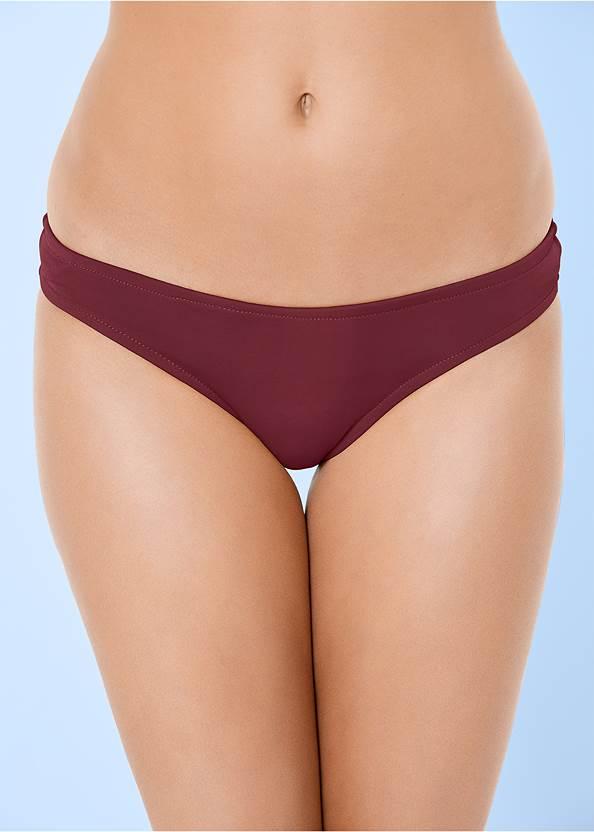 Detail front view Low Rise Classic Bikini Bottom
