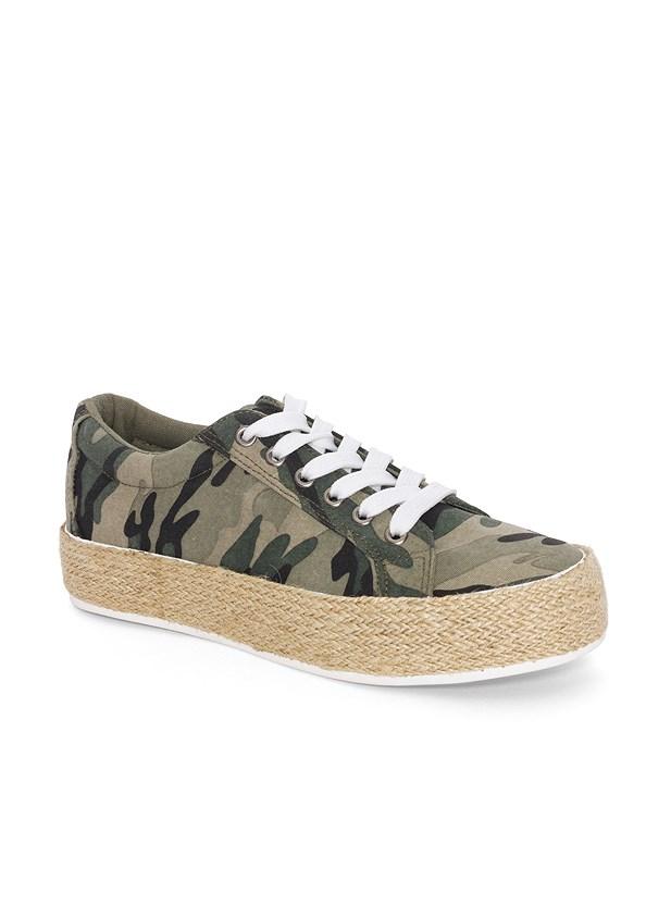 Camo Print Espadrille Sneaker