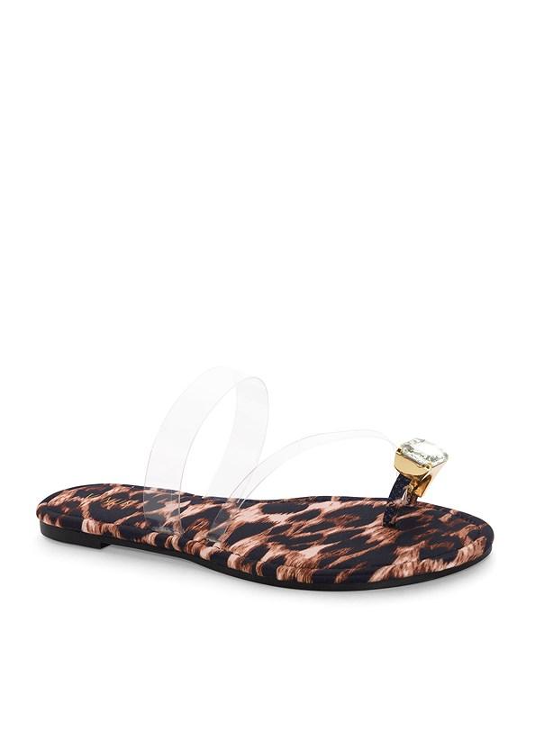 Jewel Toe Loop Lucite Sandal