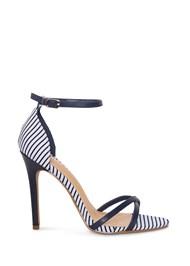 Alternate View Striped Ankle Strap Heel