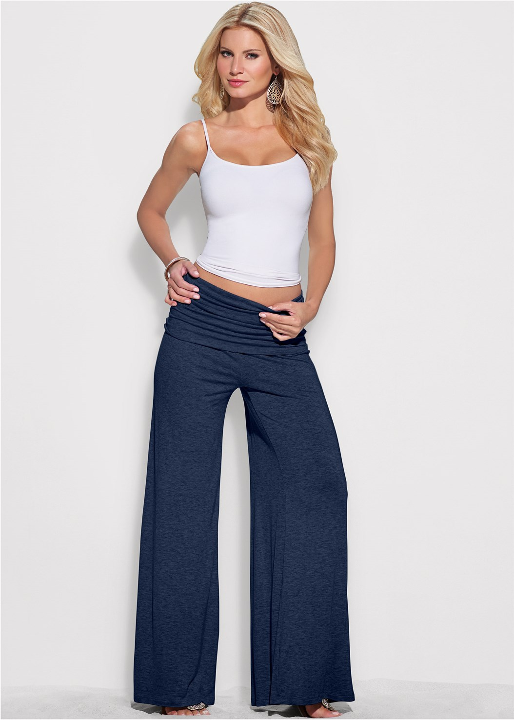 Easy Foldover Pants,Basic Cami Two Pack