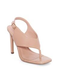 Alternate View Square Toe Thong Heel Sandal