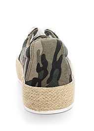 Back View Camo Print Espadrille Sneaker