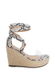 Alternate View Lucite Ankle Wrap Wedge