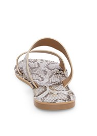 Back View Double Strap Printed Sandal