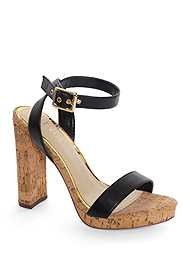 Alternate View Ankle Strap Cork Heel
