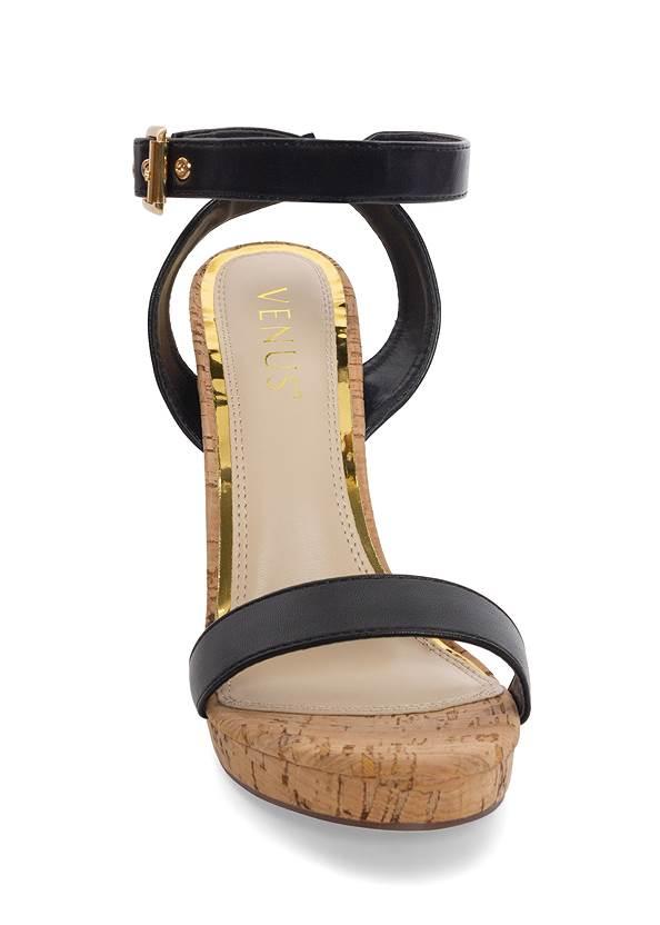 Alternate View Ankle Strap Cork Heels