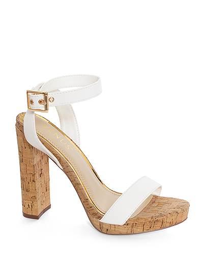 Ankle Strap Cork Heels