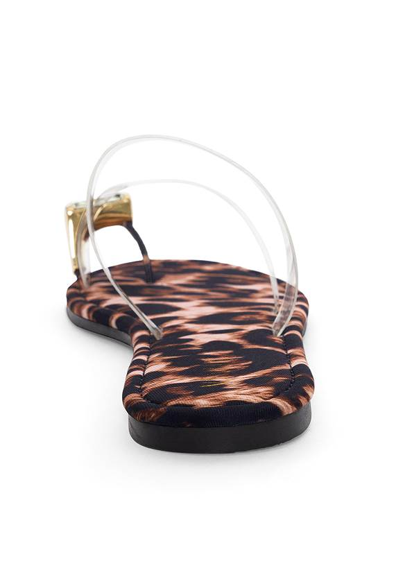 Alternate View Jewel Toe Loop Lucite Sandals