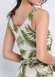 Alternate View Palm Printed Romper