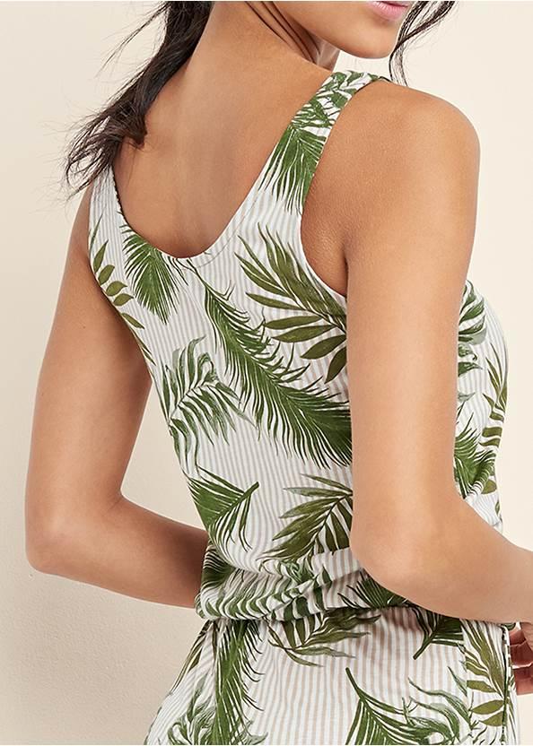 Alternate View Palm Printed Romper