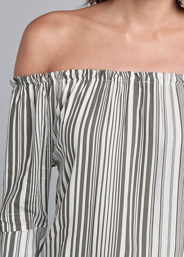 Alternate View Off-Shoulder Striped Top