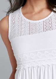 Alternate View Lace Detail Babydoll Top