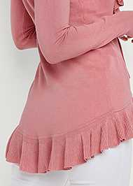 Alternate View Ruffle Tie Front Cardigan
