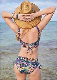 Full back view Lattice Side Bikini Bottom