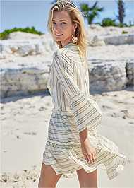 Full back view Ruffle Cover-Up Dress