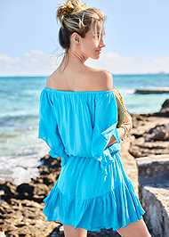 Cropped back view Flirty Romper Cover-Up