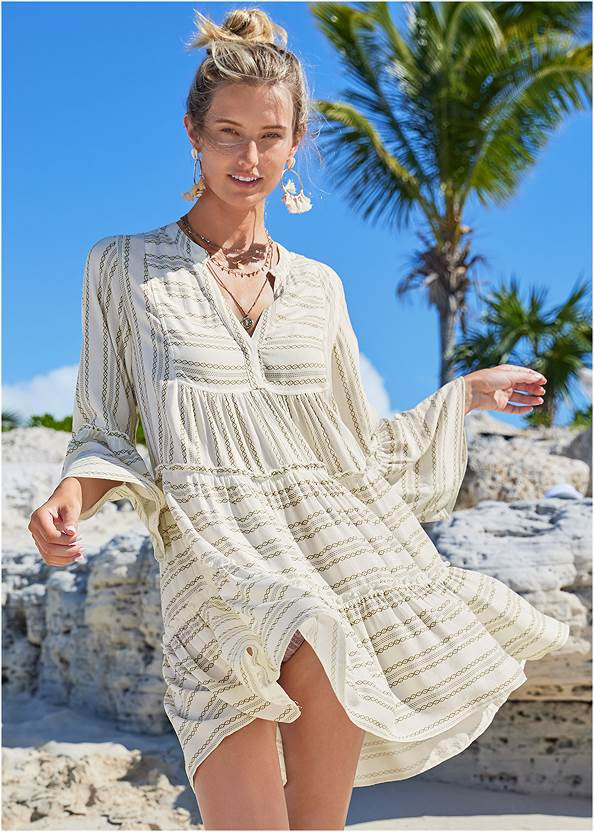 Alternate View Ruffle Cover-Up Dress