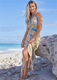 Alternate View Tie-Dye Cover-Up Dress
