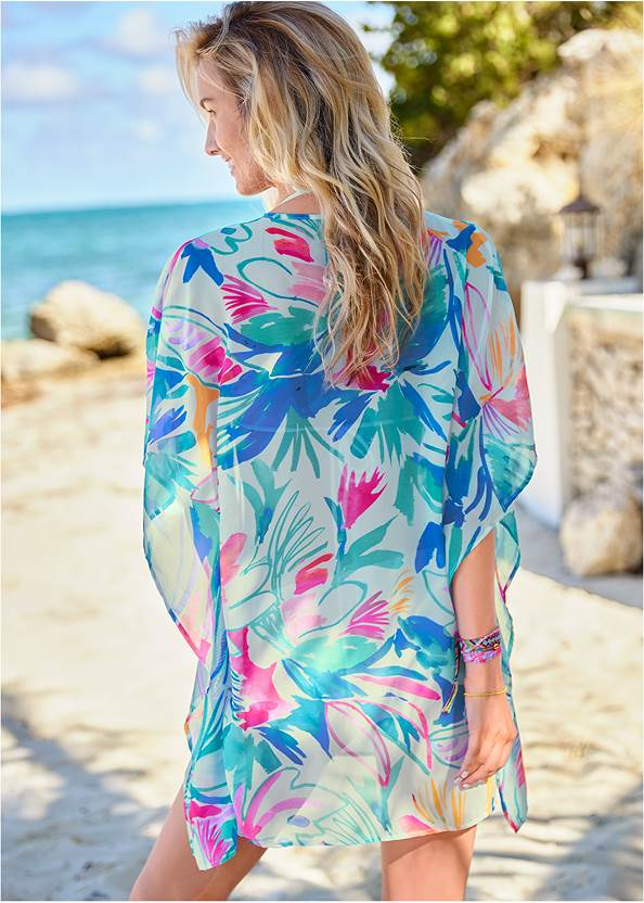 Back View Kaftan Tunic Cover-Up