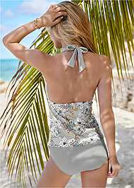 Back View Bohemian Tankini Top