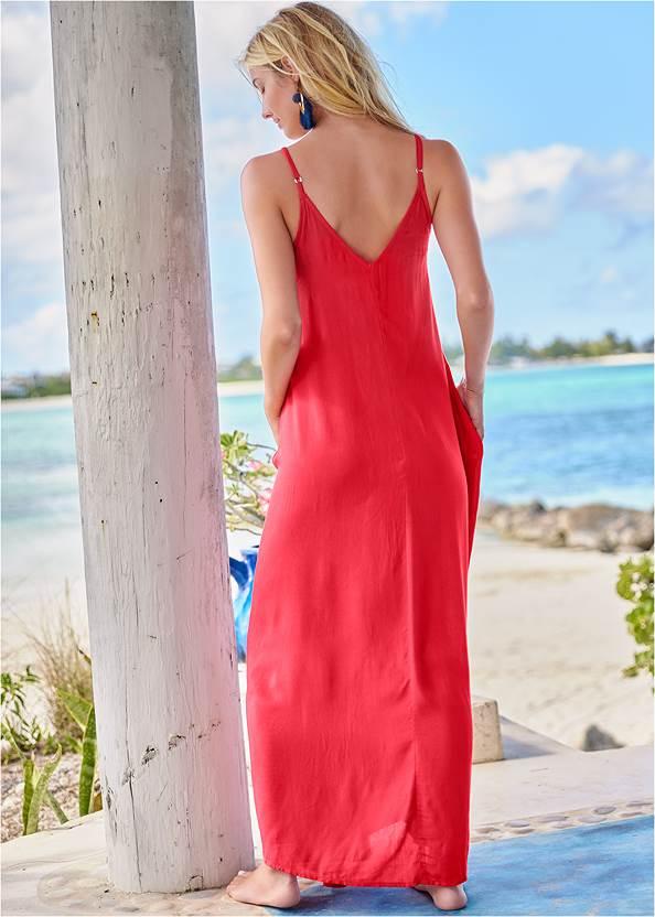 Full back view Boho Maxi Dress Cover-Up
