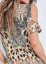 Alternate View Leopard Cold Shoulder Top