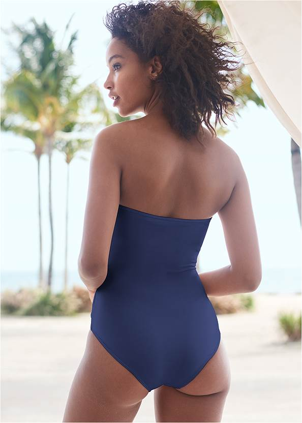 Cropped back view Bandeau Ring One-Piece