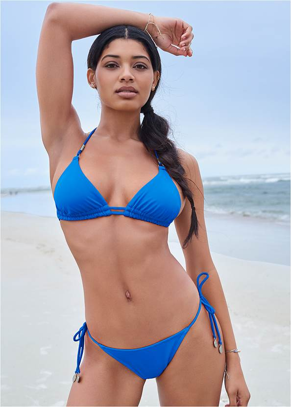 Sports Illustrated Swim™ Double Strap Triangle Top,Sports Illustrated Swim™ Tie Side String Bottom,Sports Illustrated Swim™ Low Rise Brief Bottom,Sports Illustrated Swim™ High Waist Bottom,Sports Illustrated Swim™ Cheeky Short,Sports Illustrated Swim™ Cut Out Sides Bottom