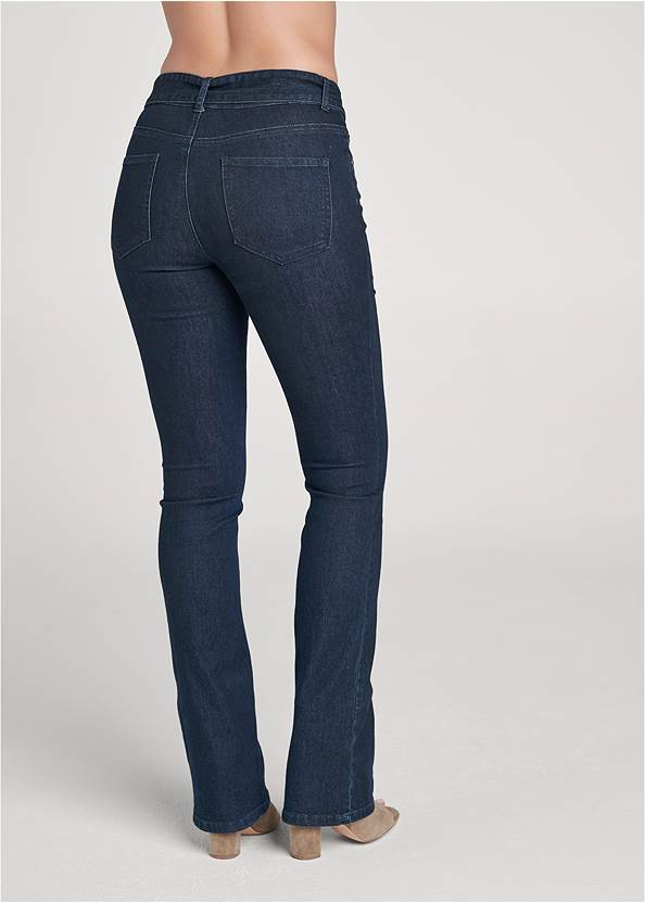 Waist down back view Belted Bootcut Jeans