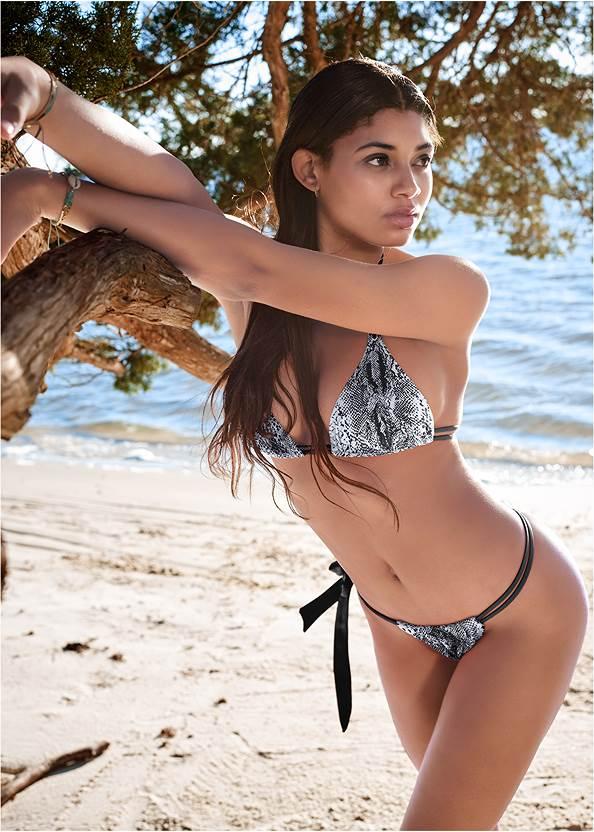 Sports Illustrated Swim™ Double Strap Triangle Top,Sports Illustrated Swim™ Adjustable Coverage Bottom,Sports Illustrated Swim™ Tie Side String Bottom,Sports Illustrated Swim™ Swim Pants