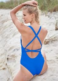 Back View Sports Illustrated Swim™ Rio Wrap One-Piece